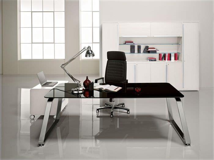 хай тек дизайн кабинета