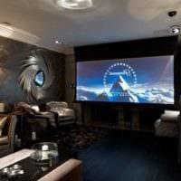 интерьер домашнего кинотеатра декор