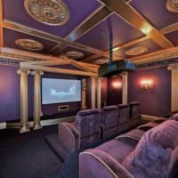 интерьер домашнего кинотеатра фото дизайн