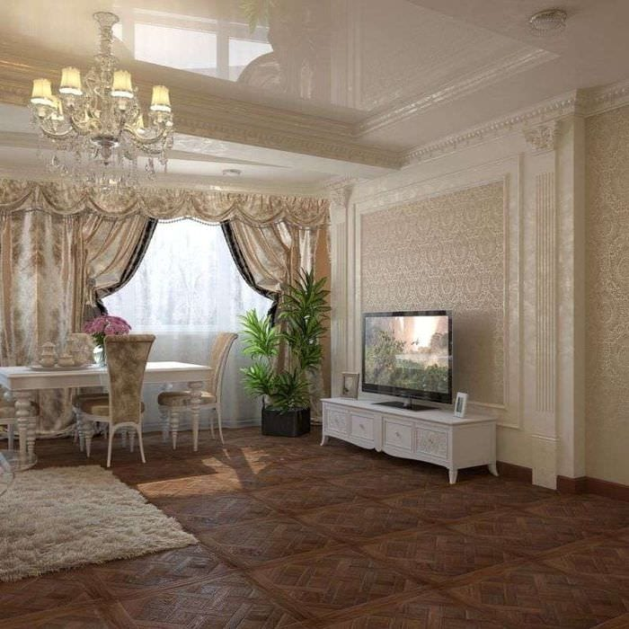 интерьер гостиной в классическом стиле