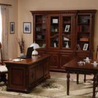 кабинет руководителя резная мебель