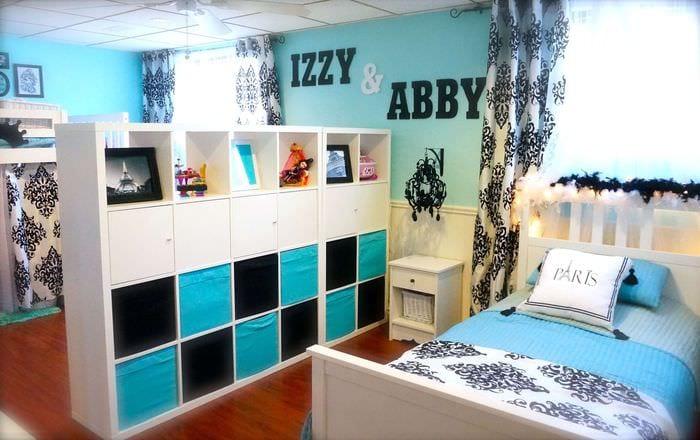 комната для мальчика и девочки перегородка