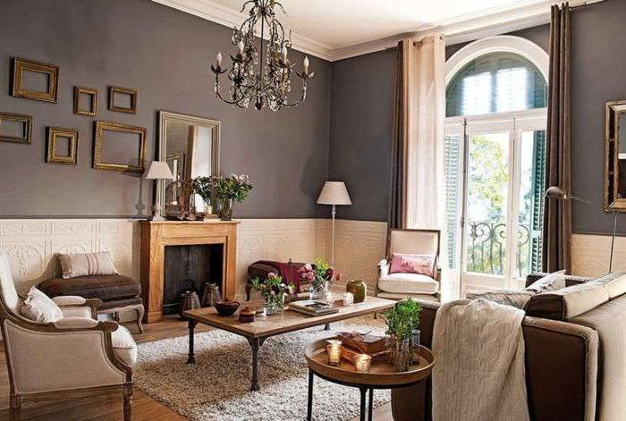 квартира гостиная в классическом стиле