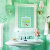 плитка для ванной комнаты зеленая