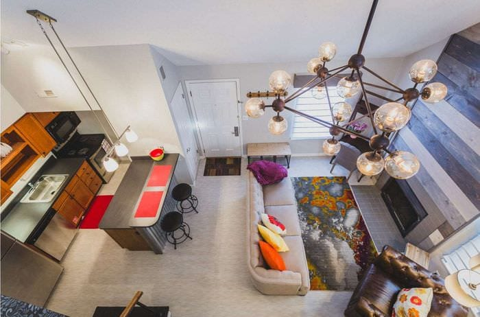 современный дизайн квартиры студии
