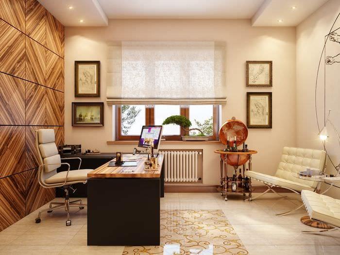светлый дизайн кабинета руководителя