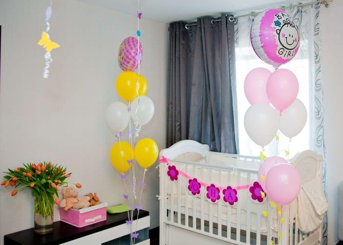 декор комнаты новорожденного
