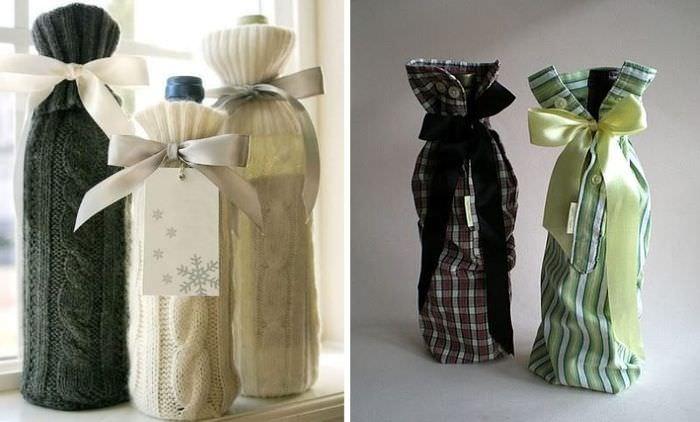 Упаковка из рукавов для бутылок с алкоголем