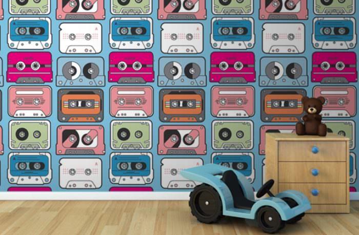 Детские фотоообои на стене спальни для ребенка дошкольного возраста