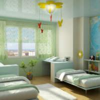 Стильный интерьер детской комнаты в светлых тонах