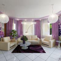 Люстры в форме шаров в интерьере гостиной