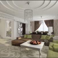 Мягкая мебель в интерьере просторной гостиной