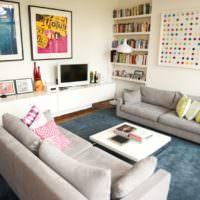 Два дивана и ковер в гостиной