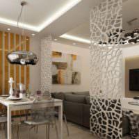 Зонирование помещения с помощью декоративных перегородок