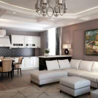 Мягкая мебель в интерьере большой гостиной