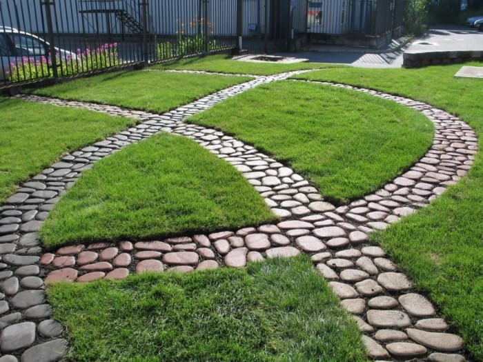 Садовые дорожки из натурального камня