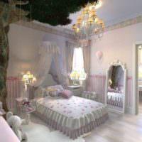Жнеская спальня в стиле прованс загородного дома