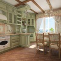 Кухонная мебель в стиле прованс для загородного дома