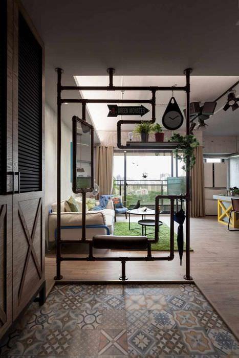 идея применения перегородки в интерьере дома