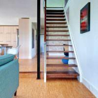пример использования пробки в дизайне квартиры фото