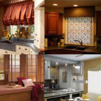 вариант светлого стиля окна на кухне фото