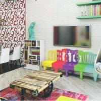 пример красивого декора комнаты в стиле поп арт картинка