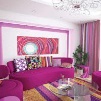 вариант светлого дизайна дома в стиле поп арт картинка