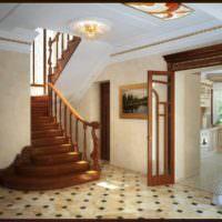 пример необычного стиля лестницы в честном доме фото