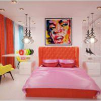 идея необычного интерьера квартиры в стиле поп арт картинка