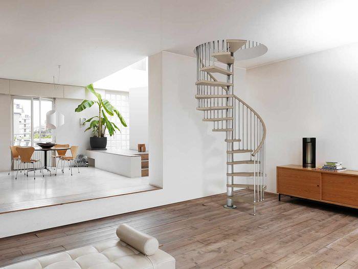 идея необычного стиля лестницы
