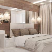 идея необычного украшения дизайна стен в спальне фото