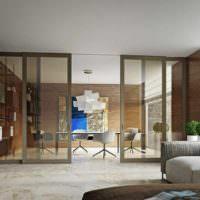 идея использования перегородки в дизайне дома картинка