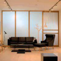 вариант использования перегородки в интерьере квартиры картинка