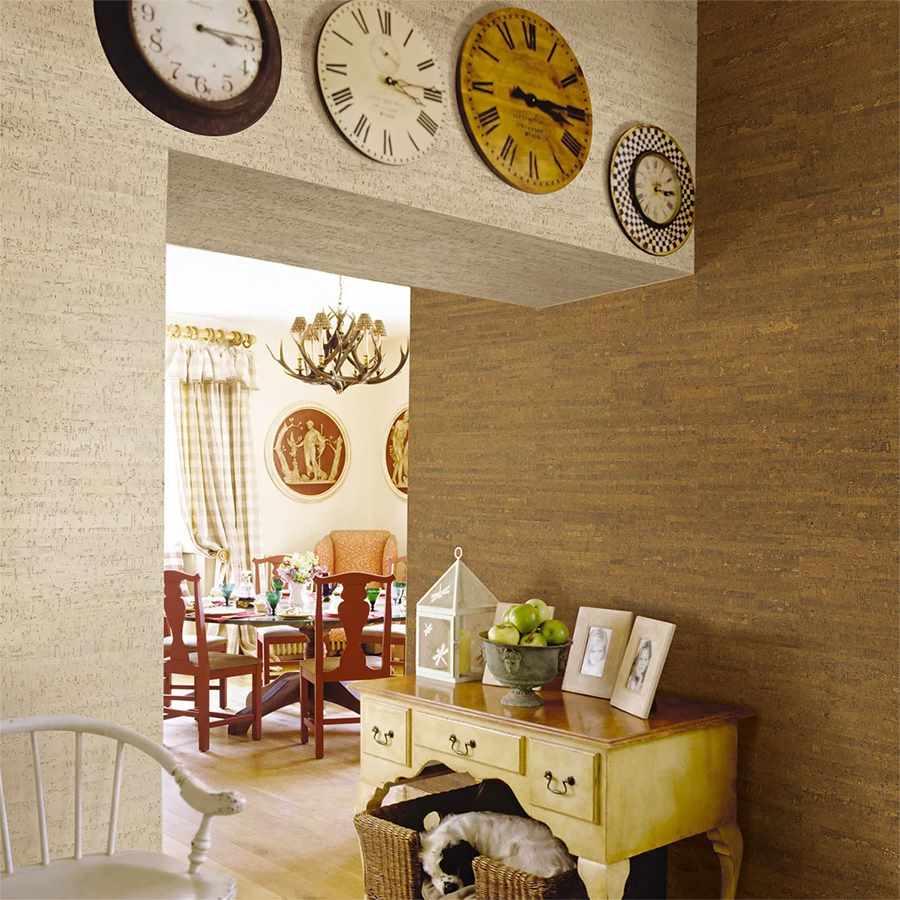 вариант использования пробки в дизайне комнаты