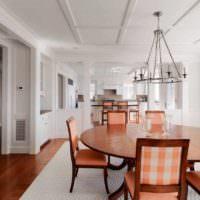идея сочетания необычного персикового цвета в интерьере квартиры картинка