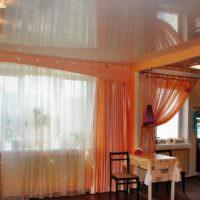 пример сочетания яркого персикового цвета в стиле квартиры фото