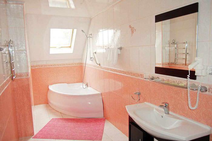 пример сочетания красивого персикового цвета в дизайне квартиры