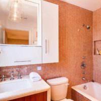 идея сочетания яркого персикового цвета в стиле квартиры фото