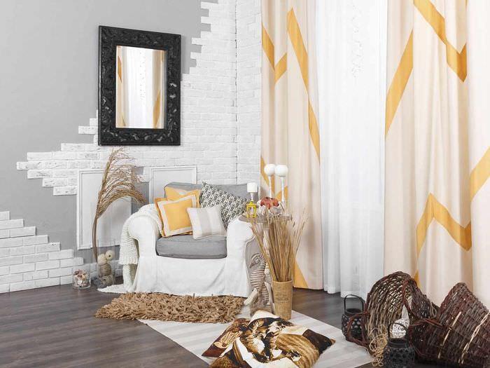 пример сочетания светлого персикового цвета в стиле квартиры