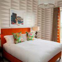 вариант сочетания красивого персикового цвета в интерьере квартиры картинка