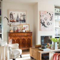вариант яркого декора квартиры в стиле поп арт картинка