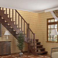 идея светлого стиля лестницы картинка