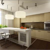 пример красивого стиля окна на кухне фото