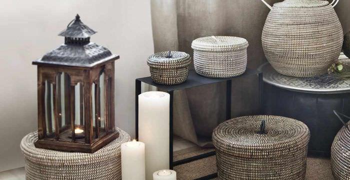 вариант красивого украшения декора квартиры