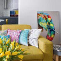 вариант светлого интерьера дома в стиле поп арт фото