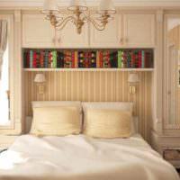 идея красивого украшения декора стен в спальне картинка