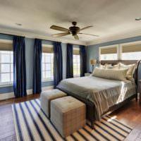 вариант яркого оформления стиля стен в спальне фото