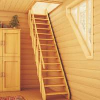 пример светлого интерьера лестницы картинка