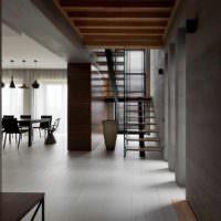идея красивого дизайна лестницы в честном доме фото