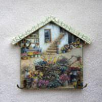 пример светлого украшения дизайна дома фото